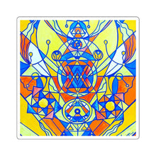 Load image into Gallery viewer, Happiness Pleiadian Lightwork Model - Square Stickers