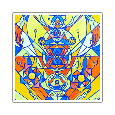 Happiness Pleiadian Lightwork Model - Square Stickers
