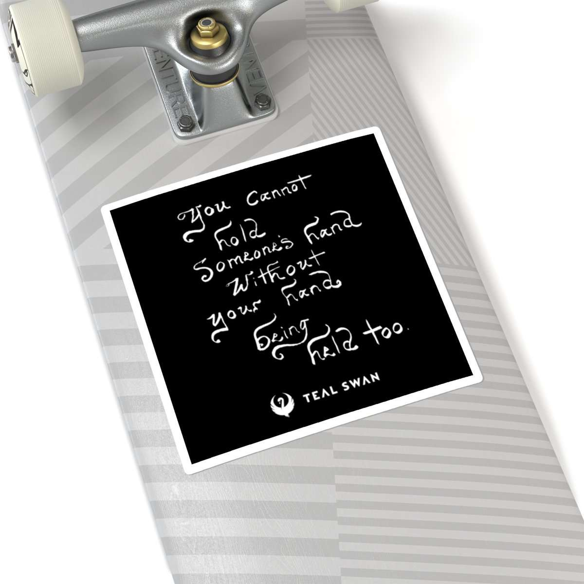 Hand Being Held Quote - Square Stickers
