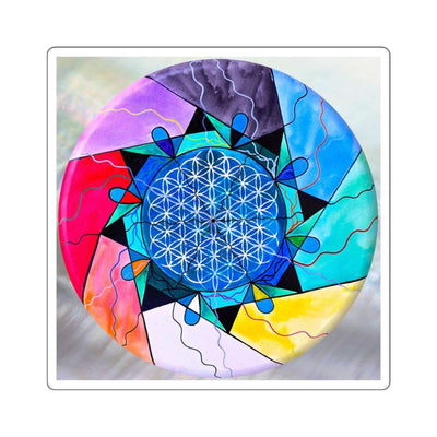 The Flower of Life - Square Stickers