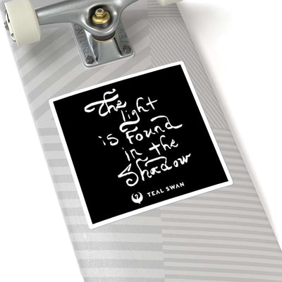 The Light Quote - Square Stickers