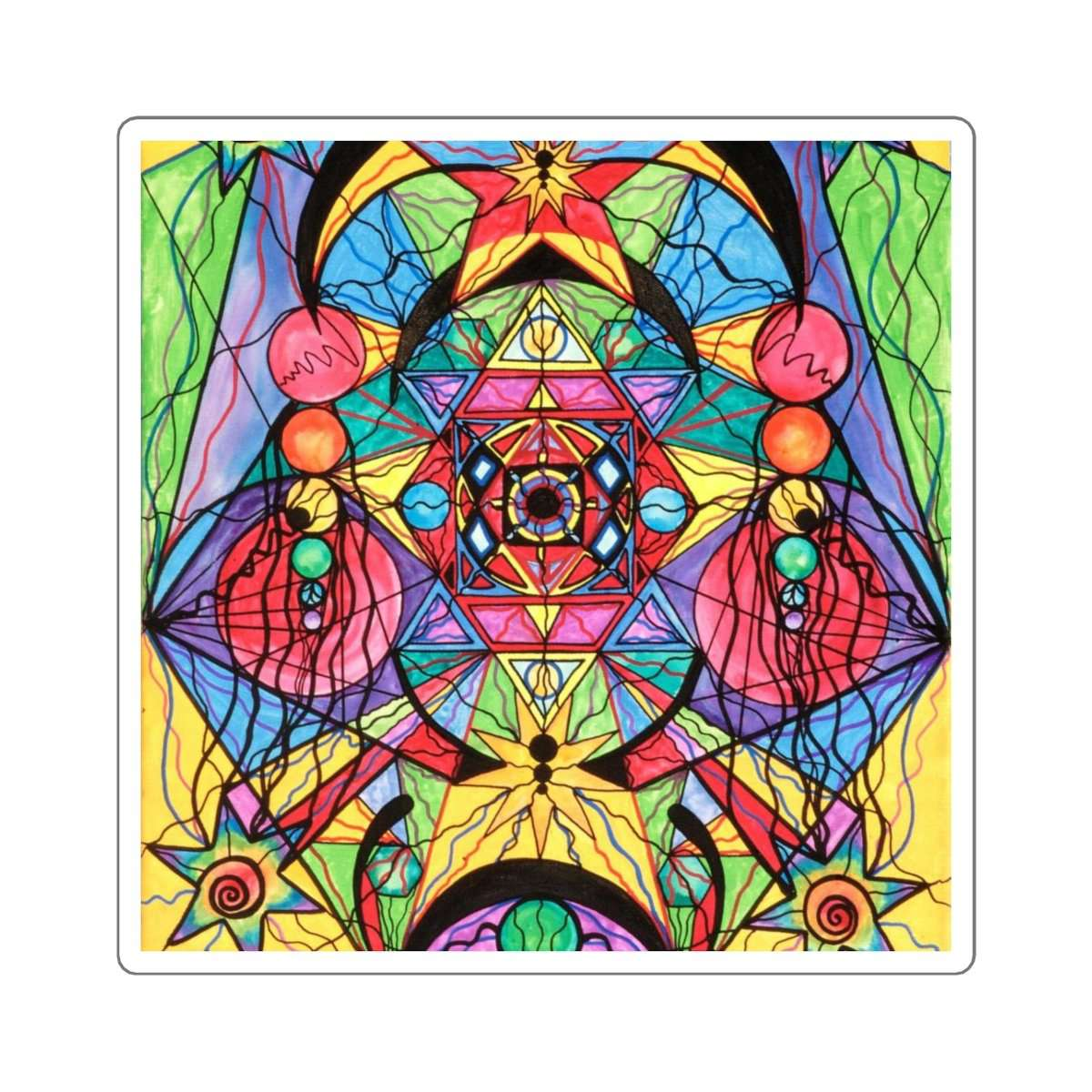Arcturian Ascension Grid - Square Stickers