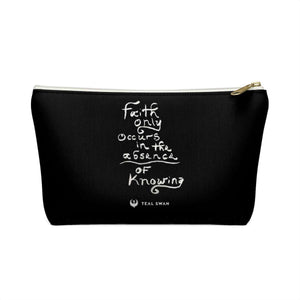 Faith Quote - Accessory Pouch w T-bottom