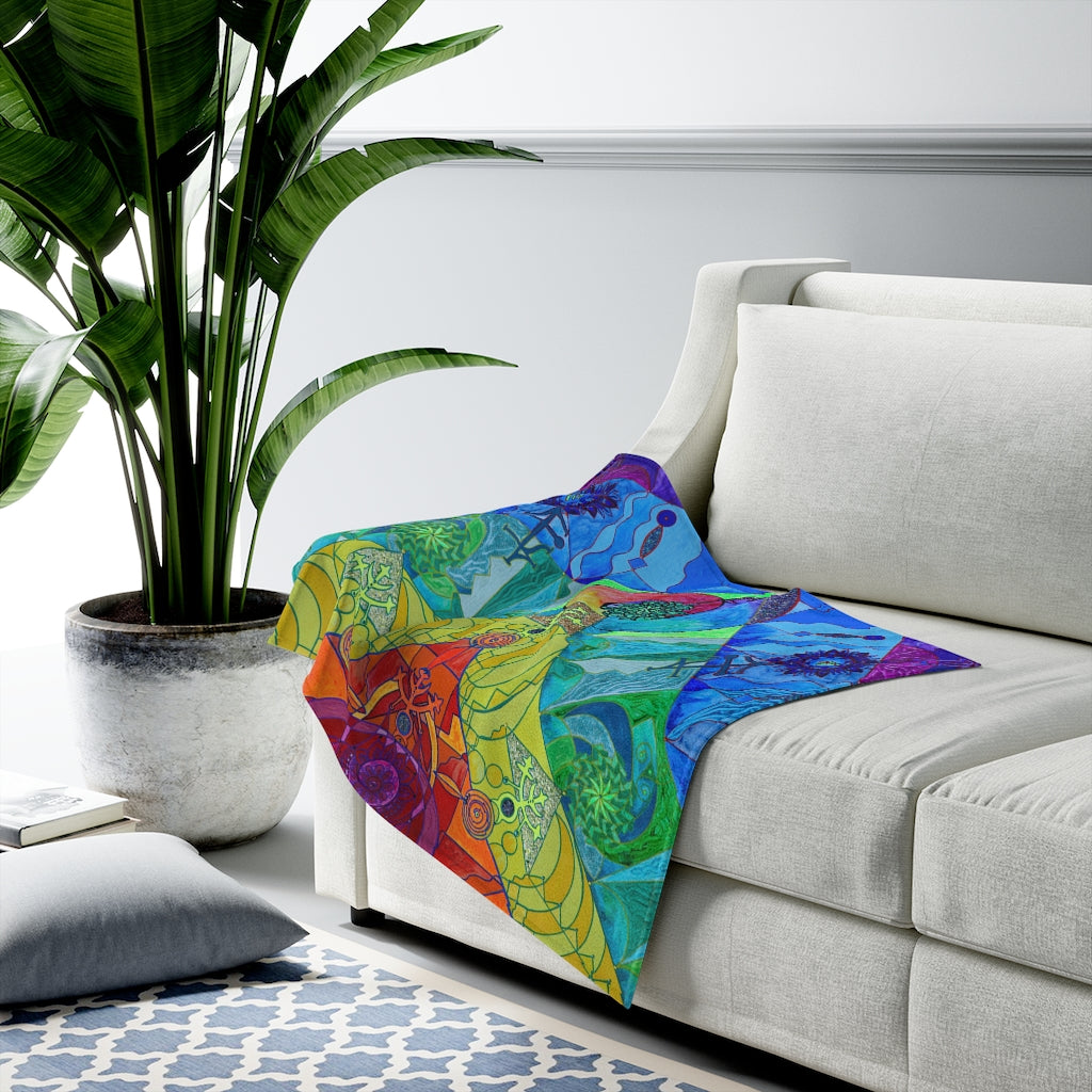 Expansion Pleiadian Lightwork Model - Velveteen Plush Blanket
