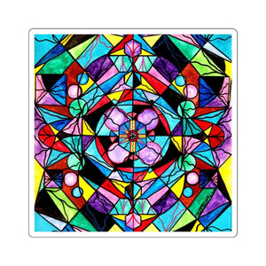 Sacred Geometry Grid - Square Stickers