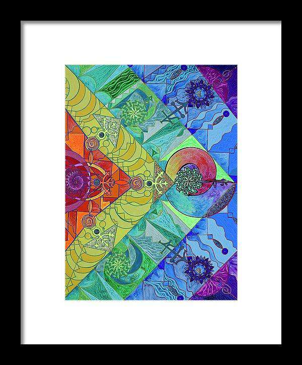 Expansion Pleiadian Lightwork Model - Framed Print