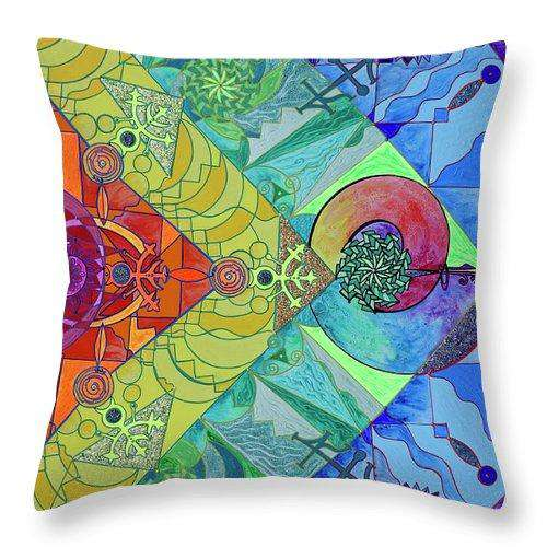 Expansion Pleiadian Lightwork Model - Throw Pillow