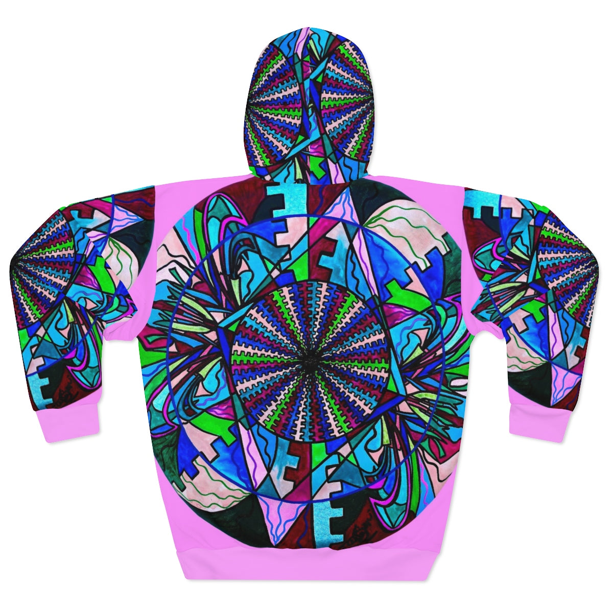 Pleiadian Integration Lightwork Model - AOP Unisex Pullover Hoodie