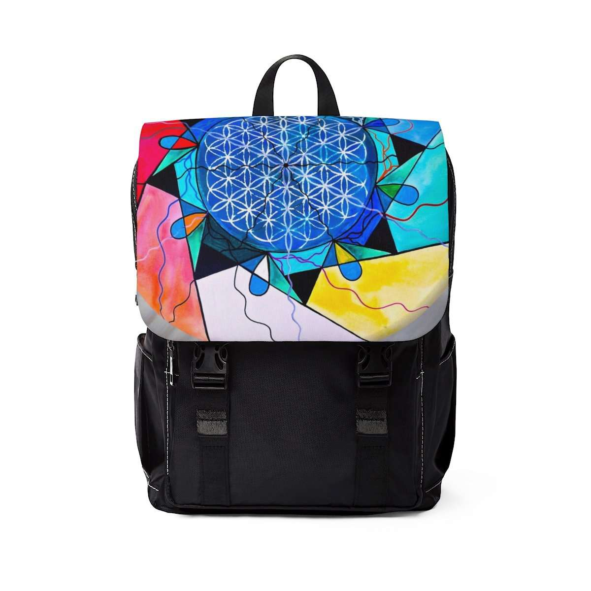 The Flower of Life - Unisex Casual Shoulder Backpack