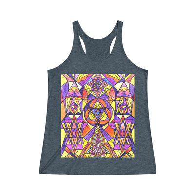 The Destiny Grid - Women's Tri-Blend Racerback Tank