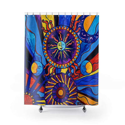 Sun and Moon - Shower Curtains