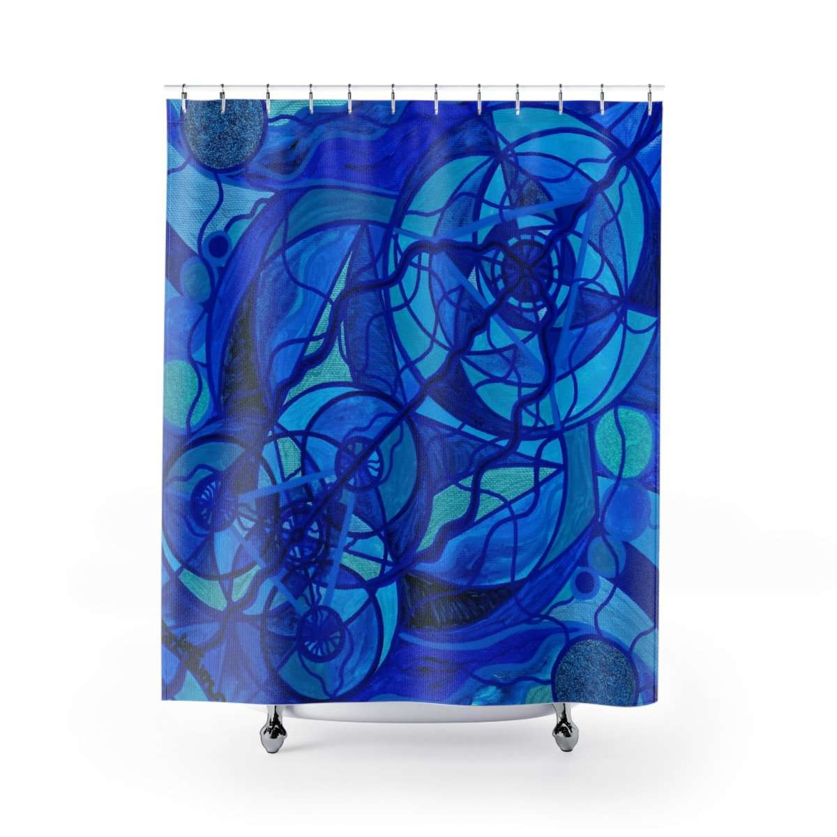 Arcturian Calming Grid - Shower Curtains