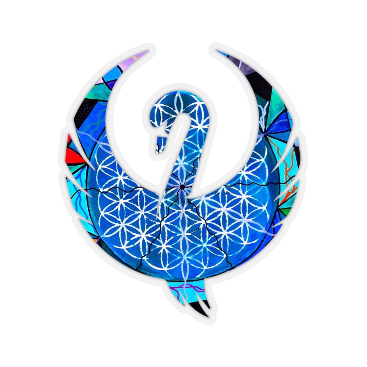 The Flower of Life - Swan Stickers
