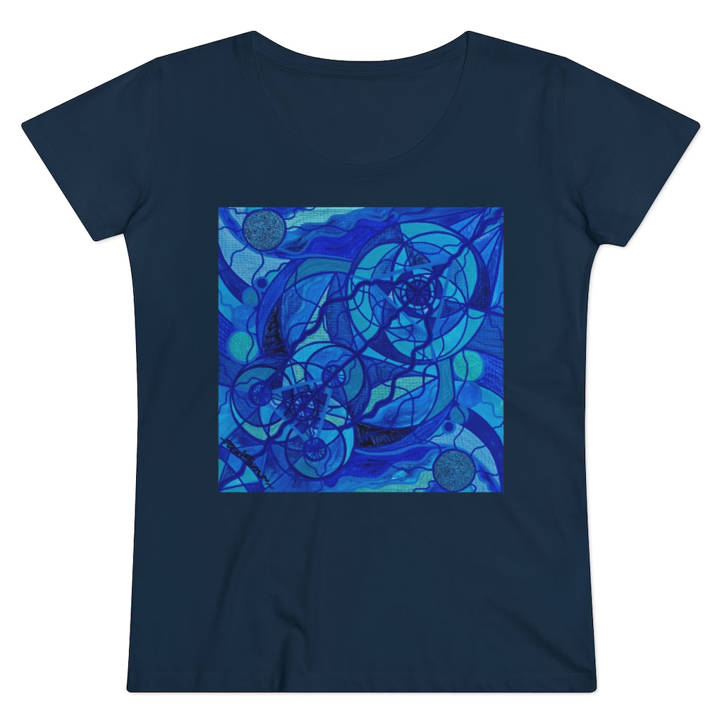 Arcturian Calming Grid - Organic Women's Lover T-shirt