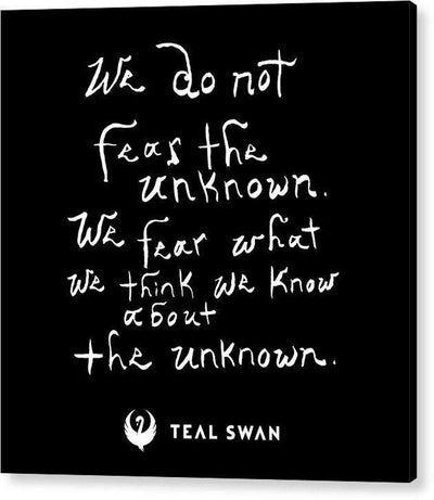 Fear The Unknown Quote - Acrylic Print