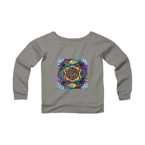 Sri Yantra - Women's Sponge Fleece Wide Neck Sweatshirt