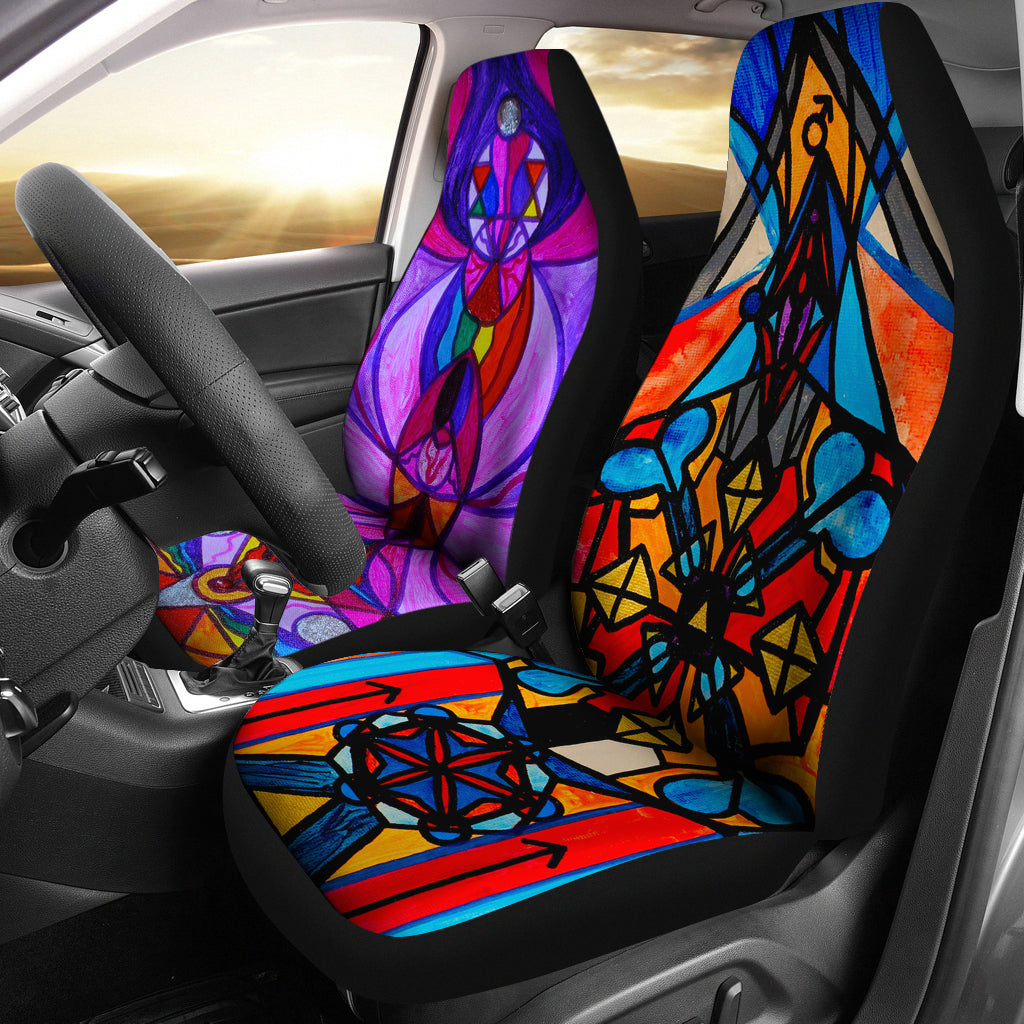 Divine Feminine & Masculine Activation - Car Seat Covers (Set of 2)
