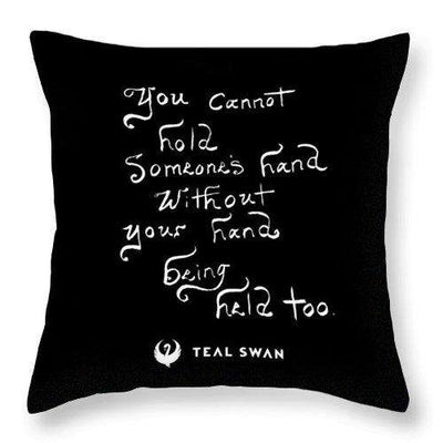 Hand Being Held Quote - Throw Pillow