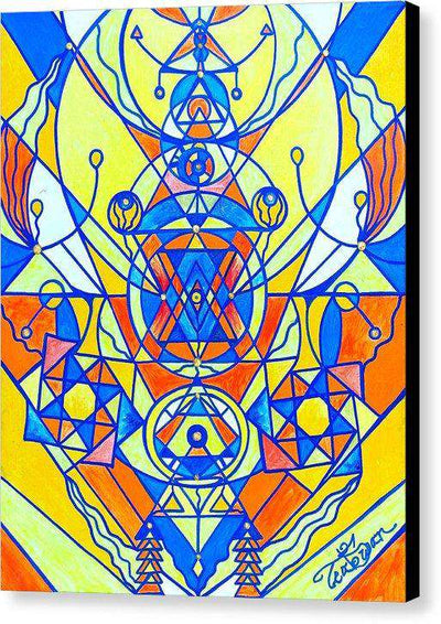 Happiness Pleiadian Lightwork Model - Canvas Print