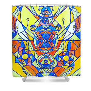 Happiness Pleiadian Lightwork Model - Shower Curtain