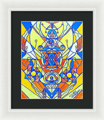 Happiness Pleiadian Lightwork Model - Framed Print