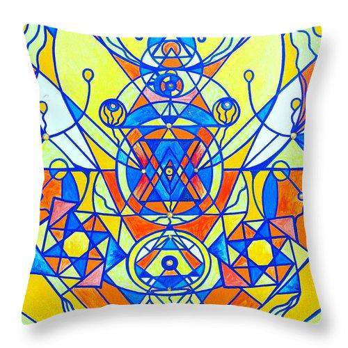 Happiness Pleiadian Lightwork Model - Throw Pillow