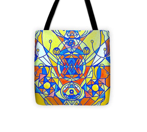 Happiness Pleiadian Lightwork Model - Tote Bag