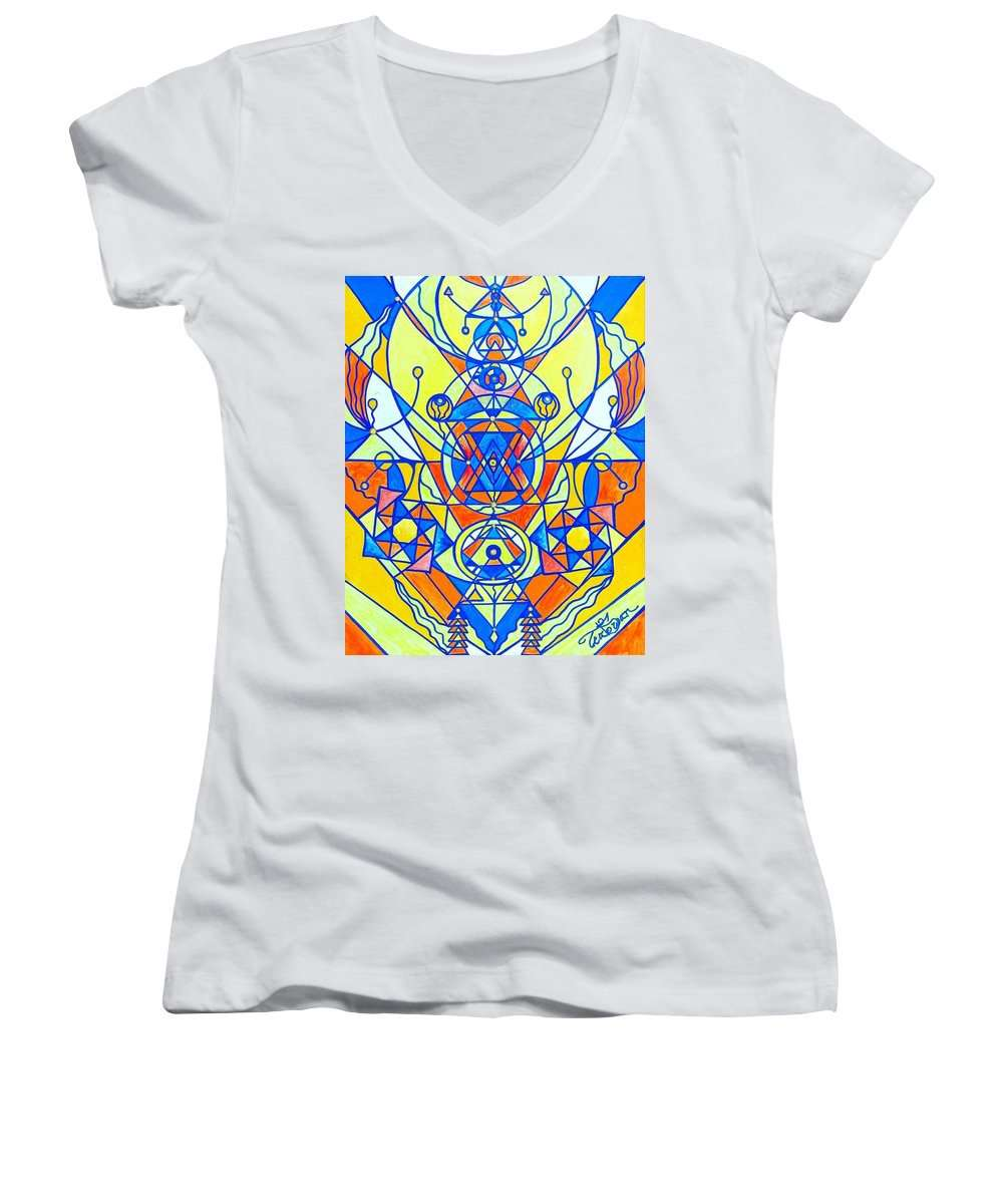 Happiness Pleiadian Lightwork Model - Women's V-Neck