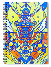 Load image into Gallery viewer, Happiness Pleiadian Lightwork Model - Spiral Notebook