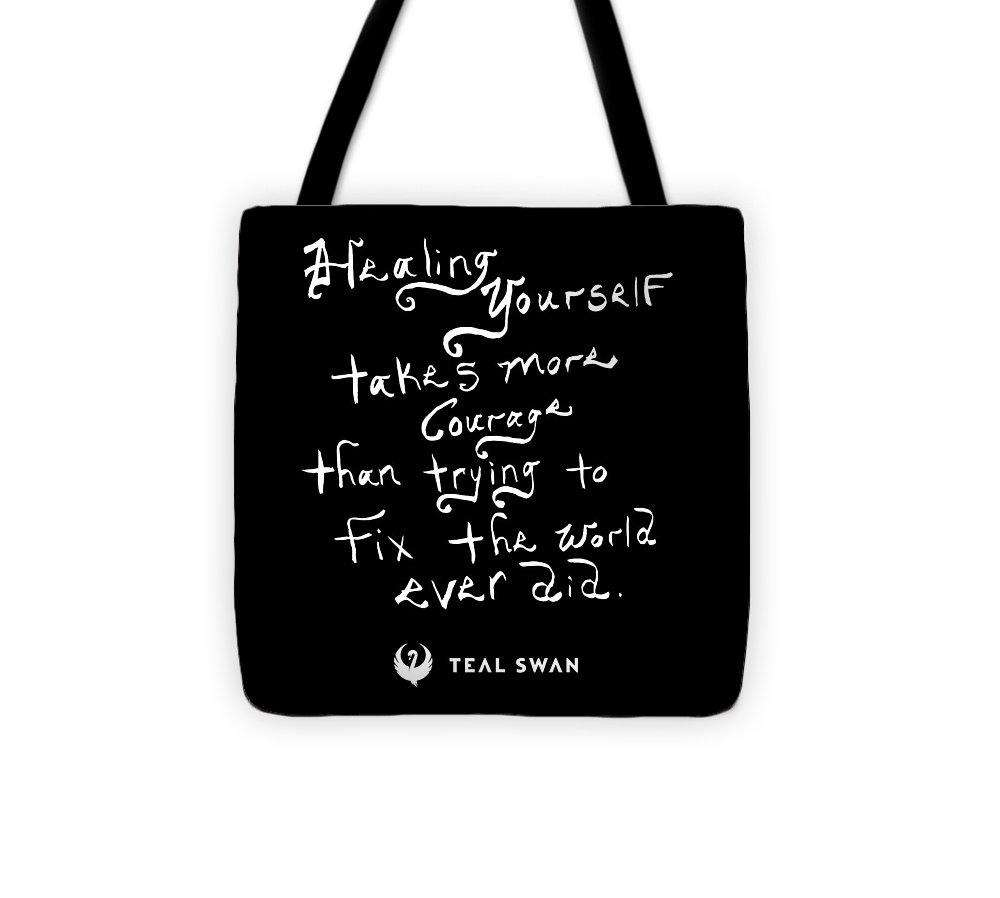Healing Yourself Quote - Tote Bag