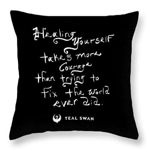 Healing Yourself Quote - Throw Pillow