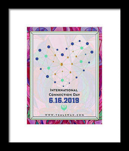 International Connection Day 2019 Intimacy Border - Framed Print