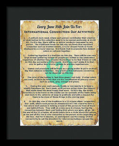 International Connection Day Activities - Framed Print