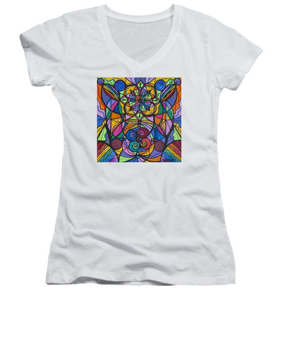 Jovial Optimism - Women's V-Neck