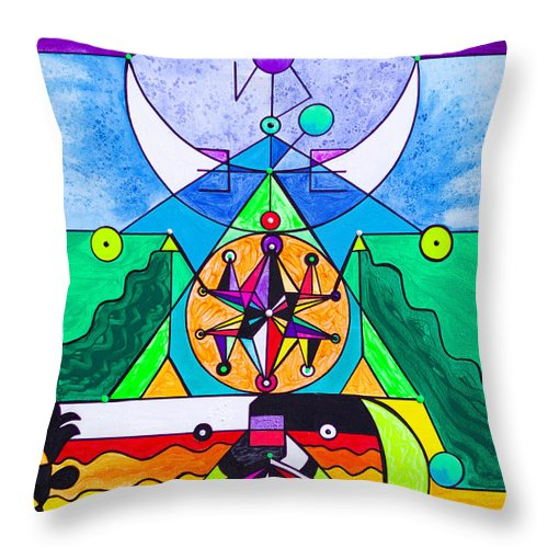 Manifestation Lightwork Model - Throw Pillow