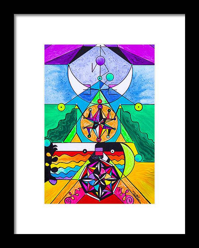 Manifestation Lightwork Model - Framed Print