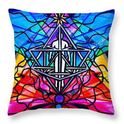 Merkabah - Throw Pillow