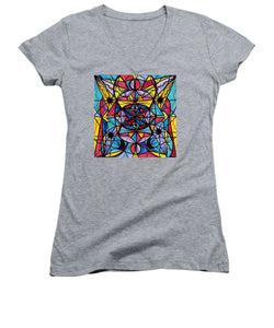 Open To The Joy Of Being Here - Women's V-Neck