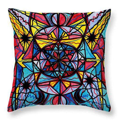 Open To The Joy Of Being Here - Throw Pillow