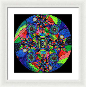 Out Of Body Activation Grid - Framed Print