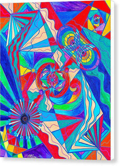 Pleiadian Restore Harmony Light Work Model - Canvas Print
