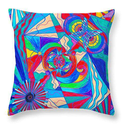 Pleiadian Restore Harmony Light Work Model - Throw Pillow
