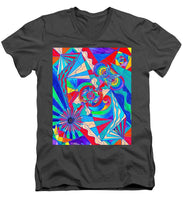 Load image into Gallery viewer, Pleiadian Restore Harmony Light Work Model - Men's V-Neck T-Shirt