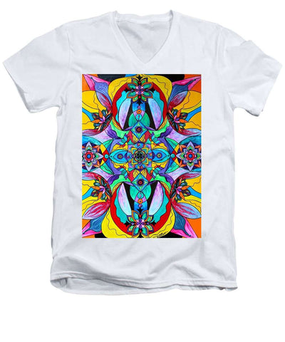 Receive - Men's V-Neck T-Shirt