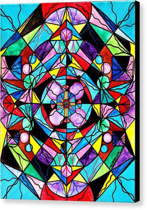 Sacred Geometry Grid - Canvas Print