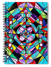 Load image into Gallery viewer, Sacred Geometry Grid - Spiral Notebook