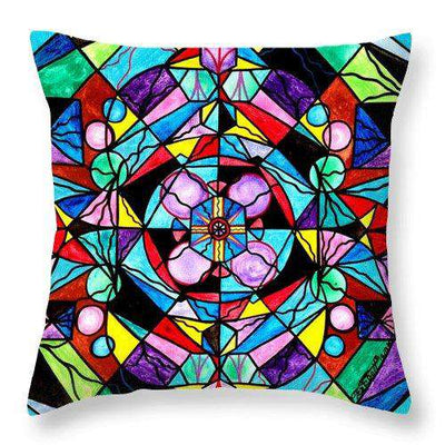 Sacred Geometry Grid - Throw Pillow
