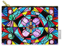 Load image into Gallery viewer, Sacred Geometry Grid - Carry-All Pouch