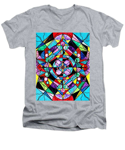 Sacred Geometry Grid - Men's V-Neck T-Shirt