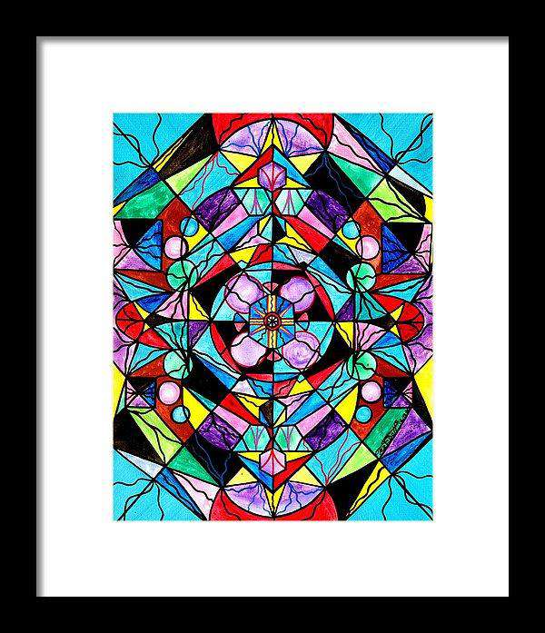 Sacred Geometry Grid - Framed Print